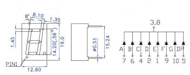 makerfabs digit 7 segment display