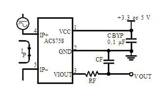 acs758lcb 50a current sensor