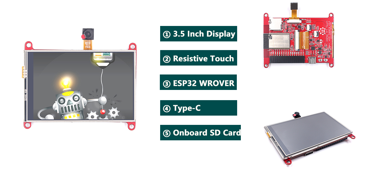 ESP32-3.5-Inch-TFT-Resistive-Touch-With-Camera