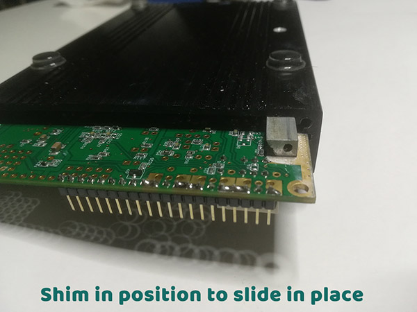 Shim-in-position-to-slide-in-place