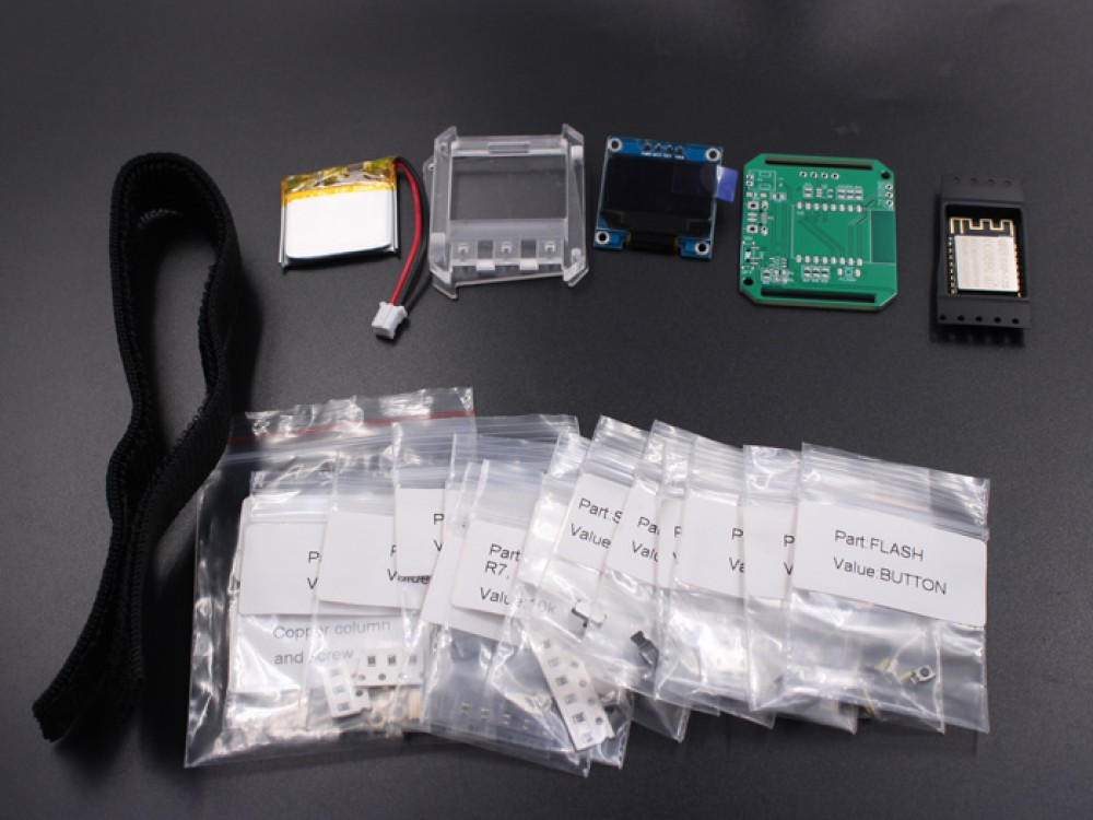 DIY ESP Smartwatch Kit with Weather Forecasting