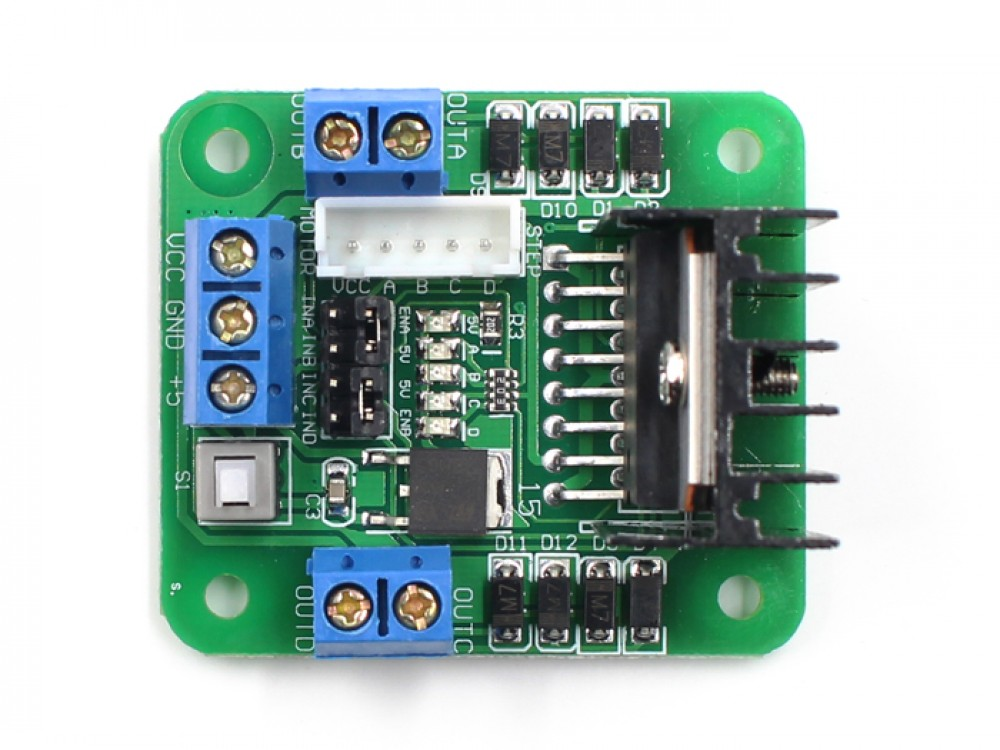 1. 5a dual channel dc motor driver module circuit pwm speed control.