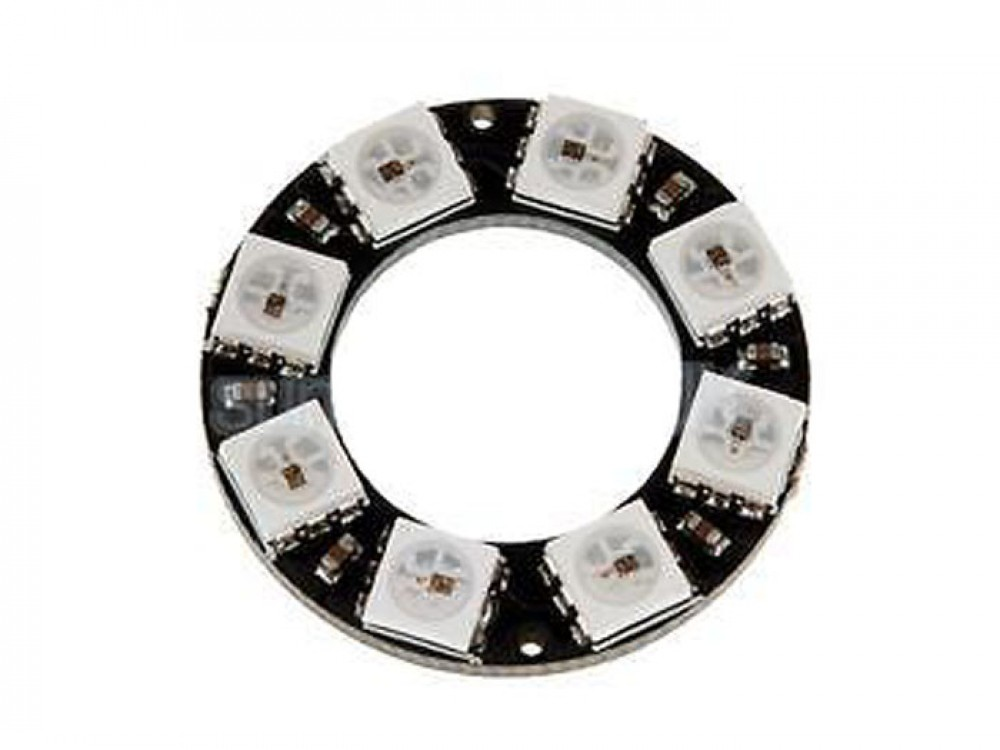 WS2812B RGB LED 8 Bit Ring